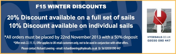 Hyde Sails F15 Winter Offer