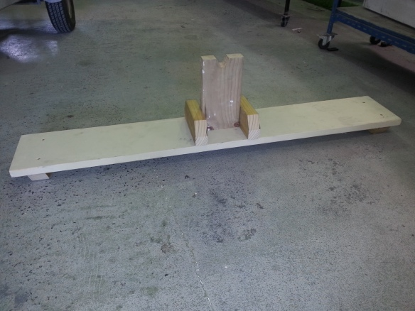 wooden keel support