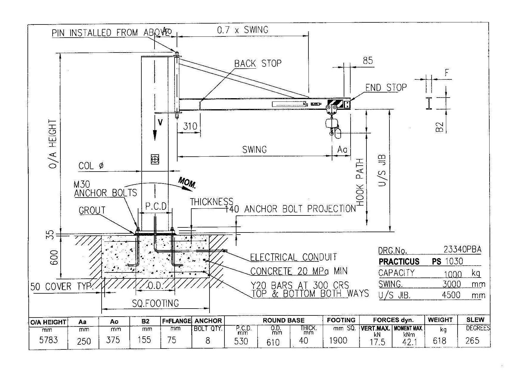 Similiar Jib Crane Foundation Design Keywords