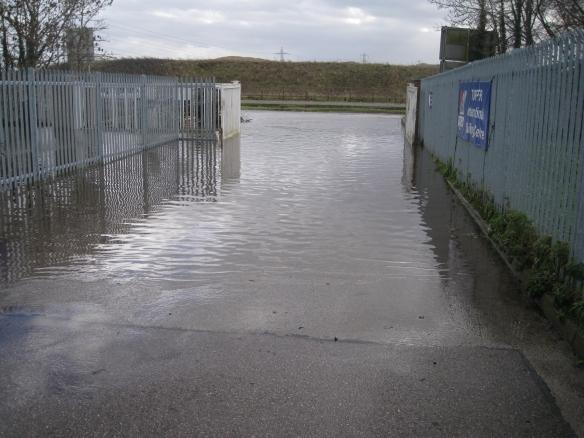 Datchet Main Gate below water