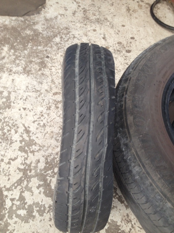 K Jamieson Tyre failure