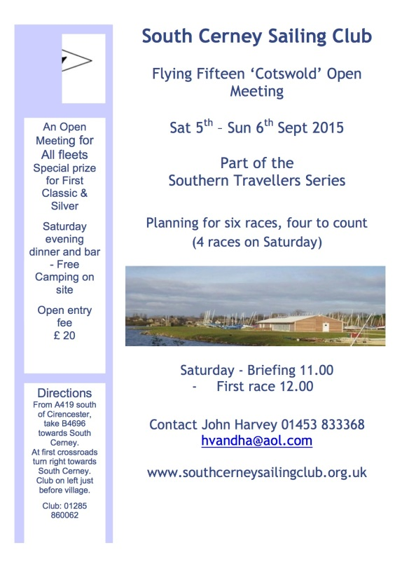 South Cerney SC - F15 Open Poster 2015