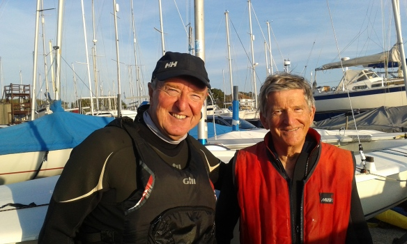 Martin Lewis (left) and Mike Riley (right) Winners of Autimn series race 5